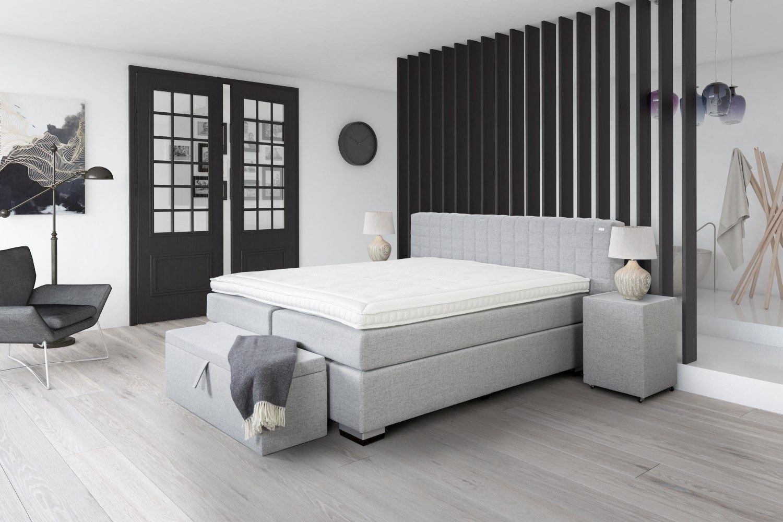 boxspringbett brixton stoff kopfteil gesteppt designer hotelbett komplettbett ebay. Black Bedroom Furniture Sets. Home Design Ideas