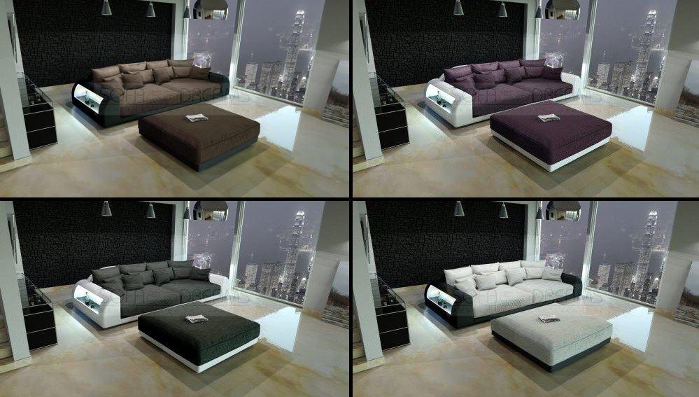 High Quality L Big Sofa Miami Megasofa With Illumination Mega Couch