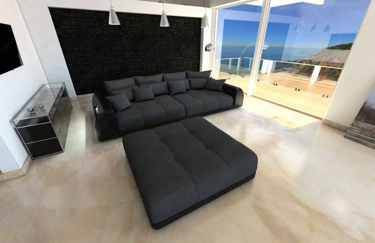 xxl big sectional sofa bed miami with led lights and big. Black Bedroom Furniture Sets. Home Design Ideas