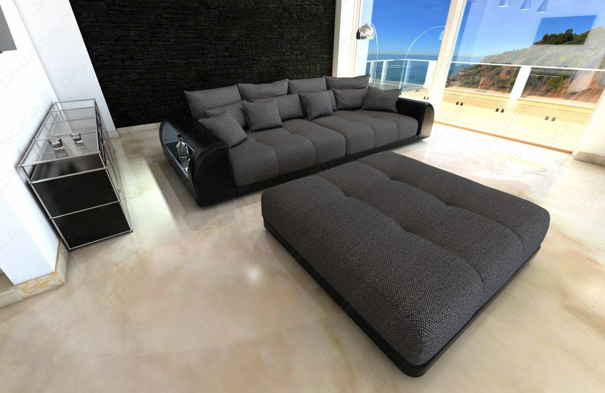 xxl big sofa miami megasofa mit beleuchtung bigsofa mega couch ebay. Black Bedroom Furniture Sets. Home Design Ideas