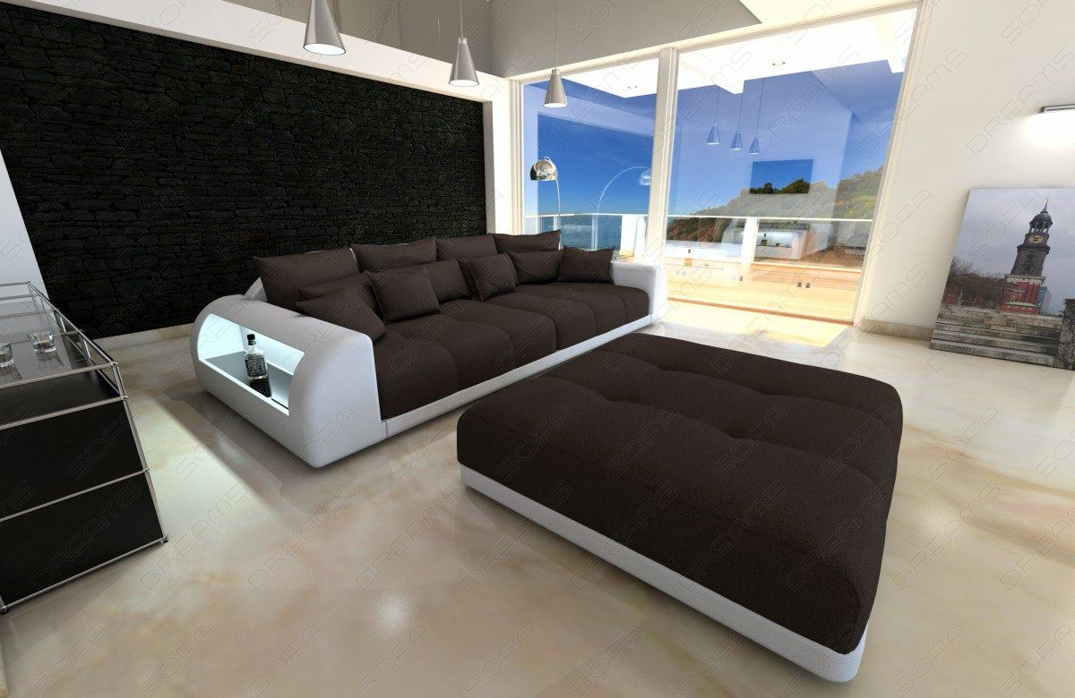 xxl big sectional sofa bed miami with led lights rgb. Black Bedroom Furniture Sets. Home Design Ideas