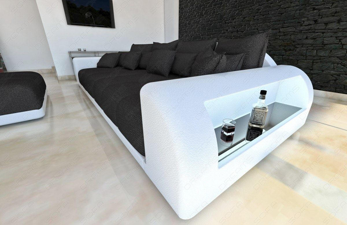 xxl big sofa miami megasofa with lighting bigsofa mega. Black Bedroom Furniture Sets. Home Design Ideas