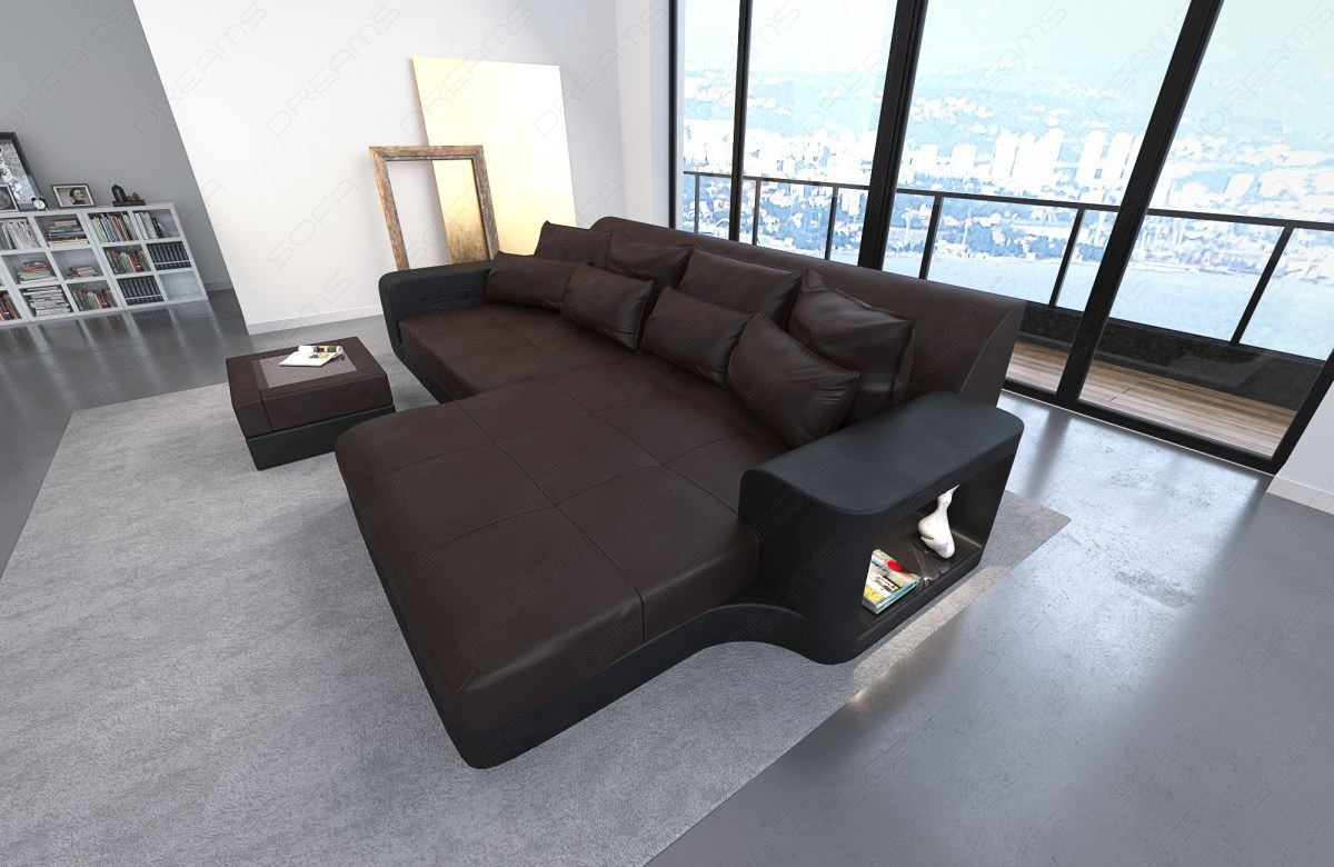 big sofa leather sofa milano with led lights sectional. Black Bedroom Furniture Sets. Home Design Ideas