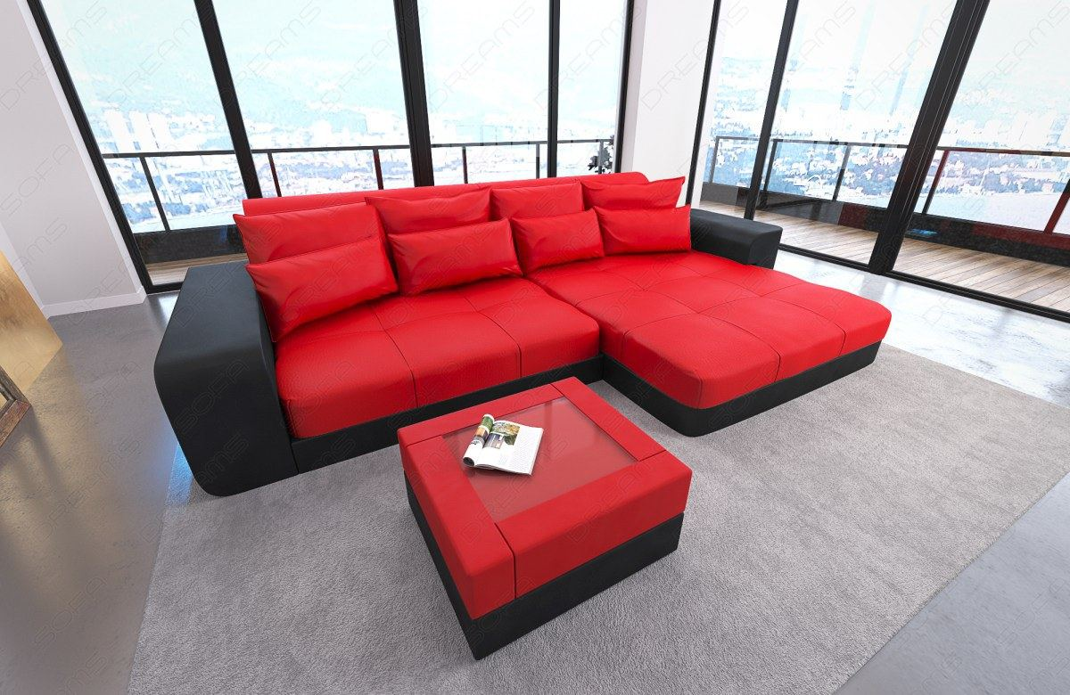 big sofa leather san diego with led lights sectional corner couch usb port ebay. Black Bedroom Furniture Sets. Home Design Ideas