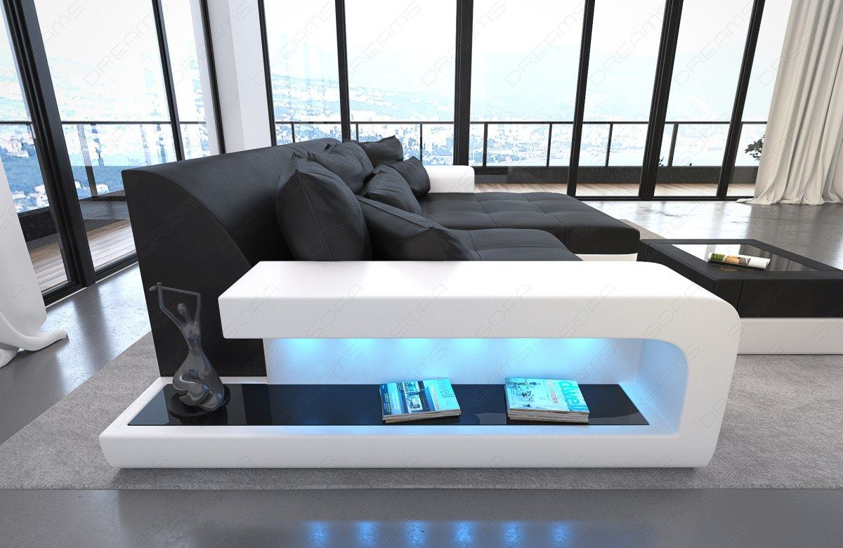 big sofa leather sofa milano with led lights sectional corner sofa. Black Bedroom Furniture Sets. Home Design Ideas