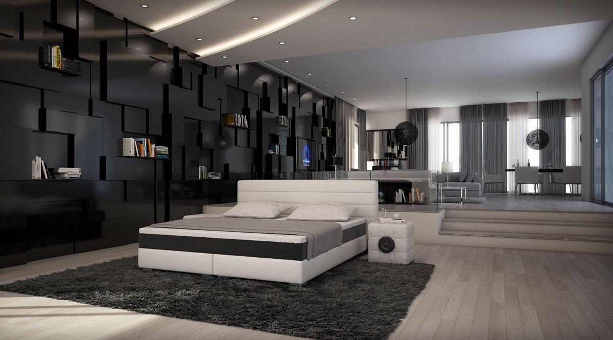 Details zu Boxspringbett SIENA Modern Designer Leder Bett Designerbett  Luxusbett gesteppt