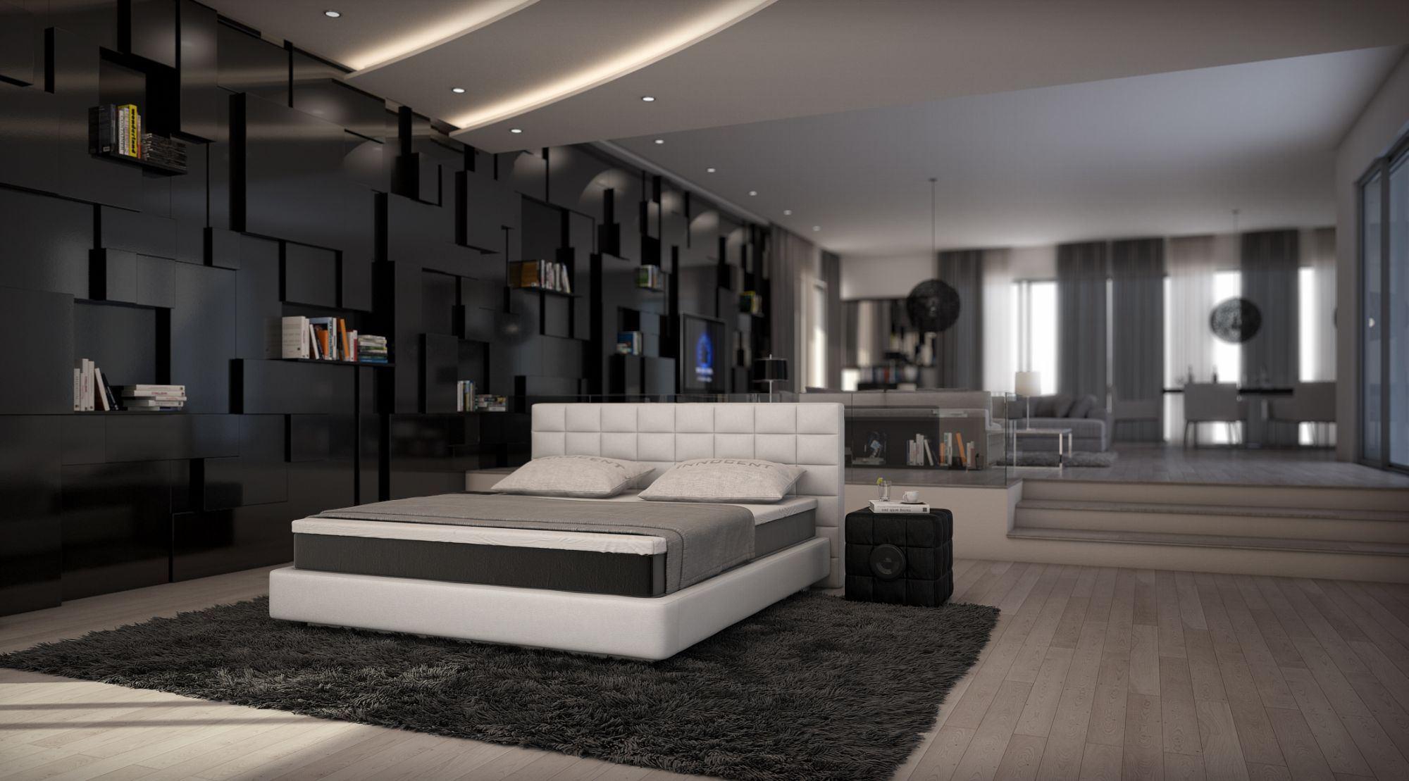 Designer boxspringbett  Boxspringbett TRAPANI modernes Design Polsterbett Luxus ...