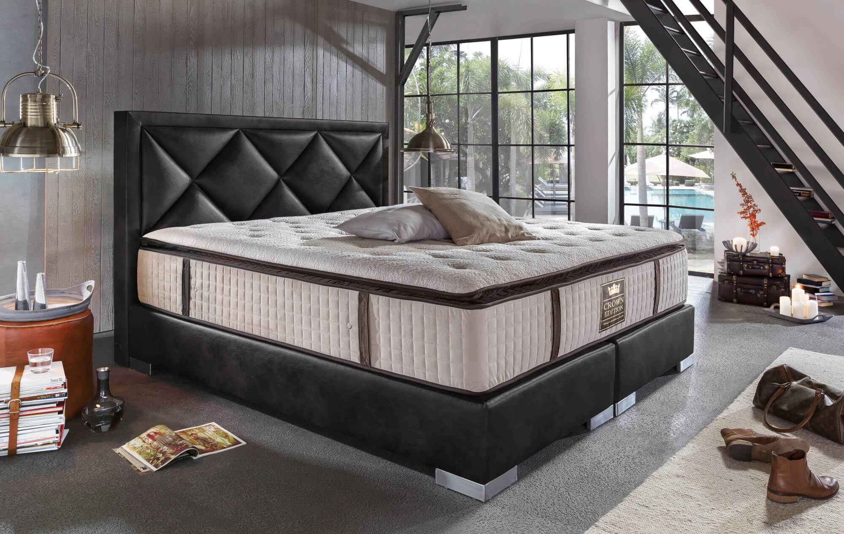 Boxspringbett Bett Hotelbett PLAZA by Crown antik Designer Luxus ...