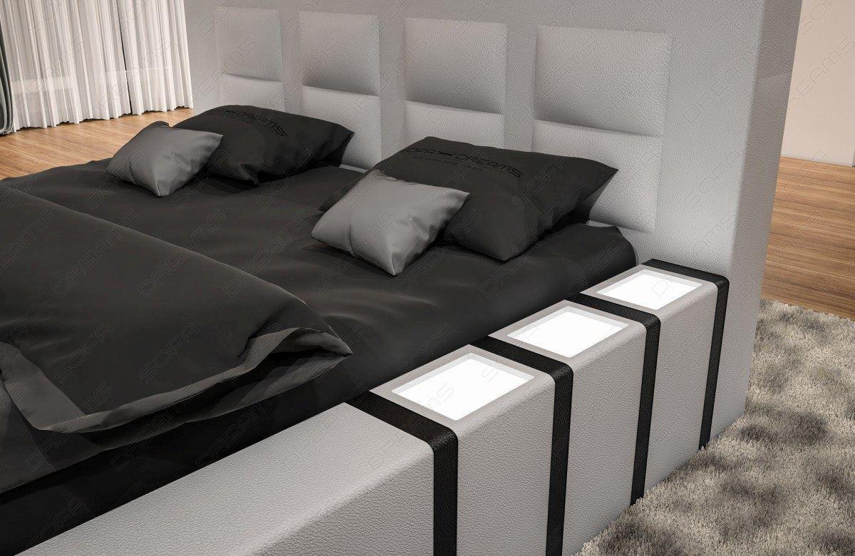 komplett set wasserbett asti weiss mit beleuchtung. Black Bedroom Furniture Sets. Home Design Ideas