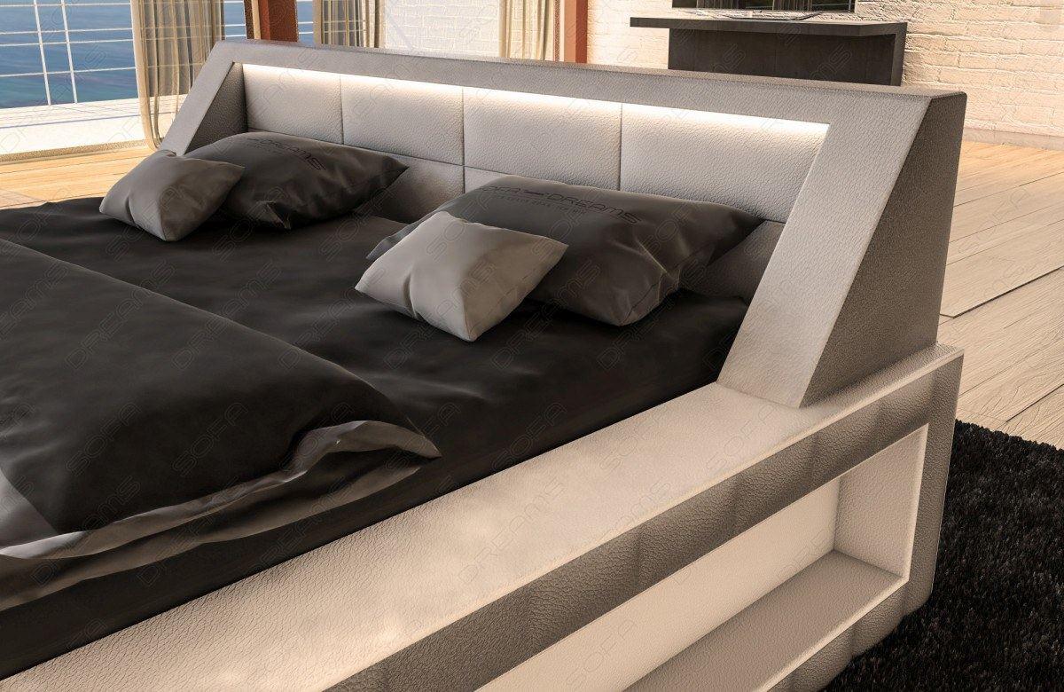 hotelbett design boxspringbett matera ehebett mit led beleuchtung komplettbett ebay. Black Bedroom Furniture Sets. Home Design Ideas