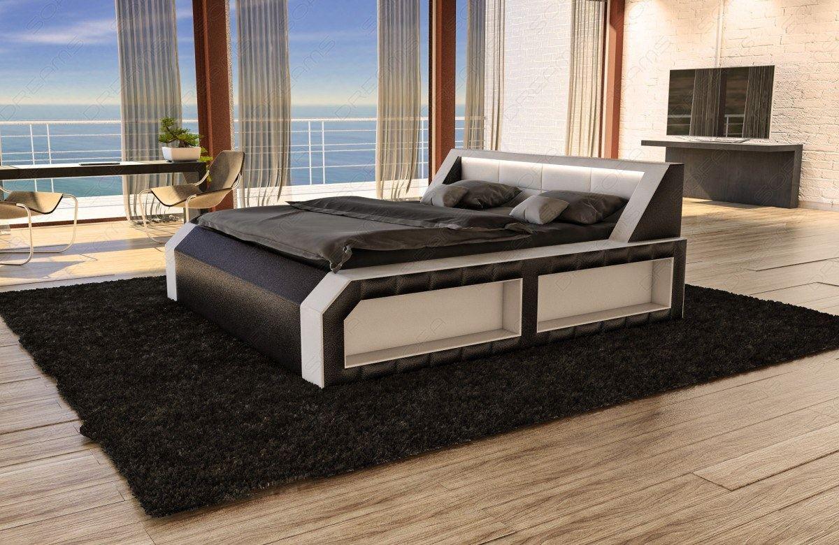 design wasserbett matera komplett set weiss inkl beleuchtung lagerware ebay. Black Bedroom Furniture Sets. Home Design Ideas