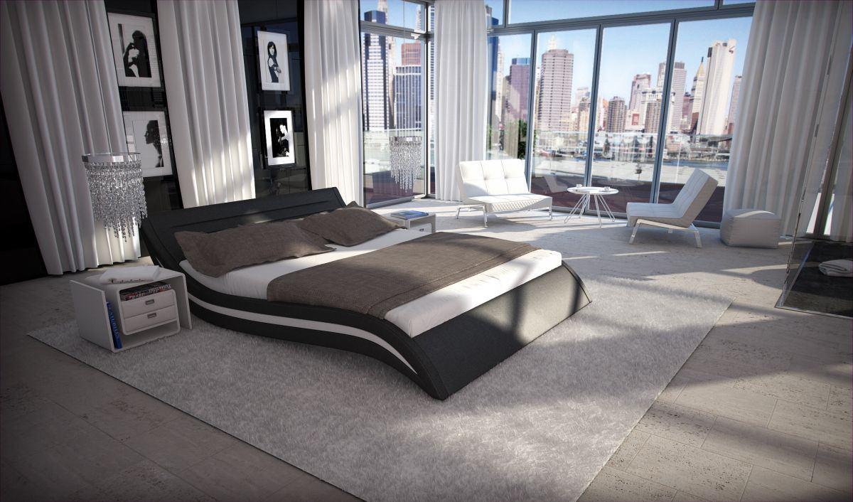 polsterbett doppelbett ehebett accent designerbett. Black Bedroom Furniture Sets. Home Design Ideas