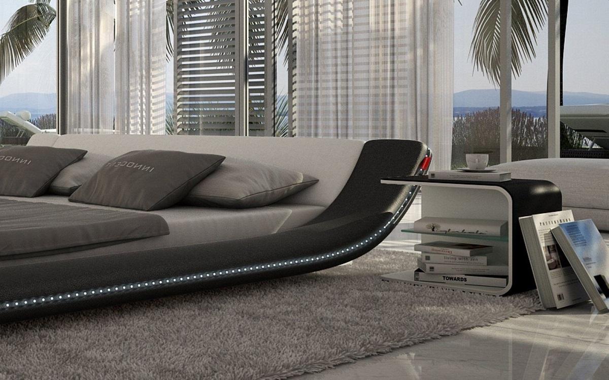 Designer Bett Mit Led Beleuchtung ~ Polsterbett Design CUSTO LED Designerbett mit LED Beleuchtung  eBay