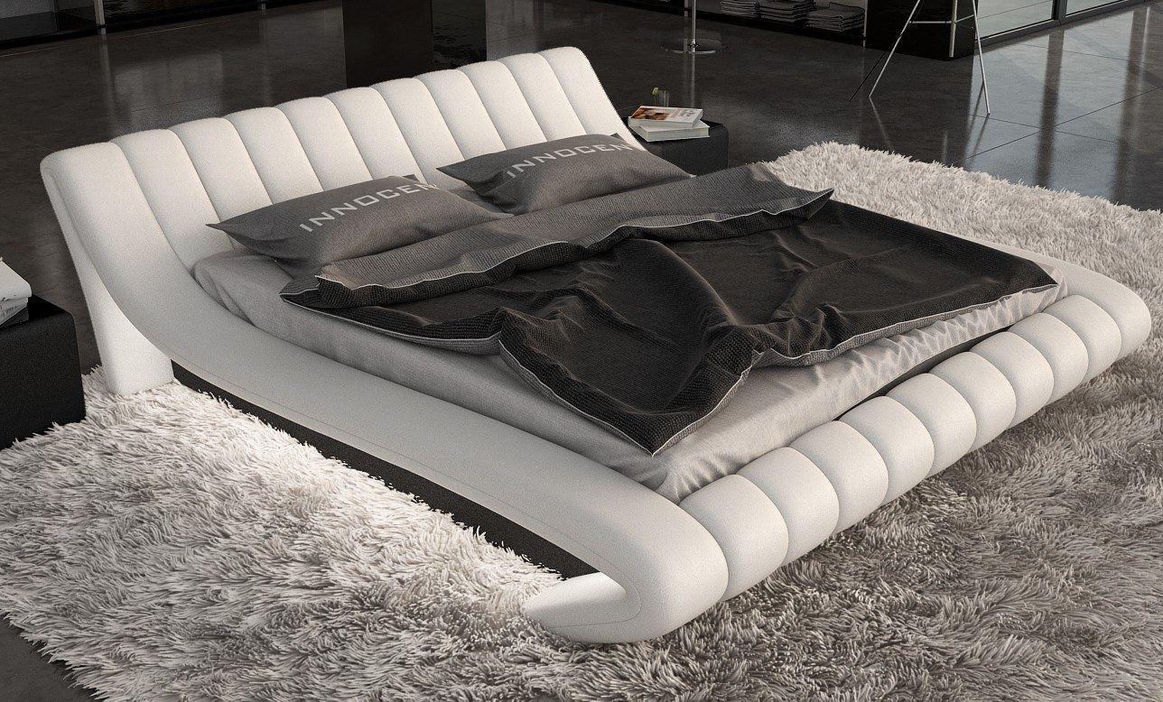 designerbett lederbett ferrara mit led edeles luxus. Black Bedroom Furniture Sets. Home Design Ideas