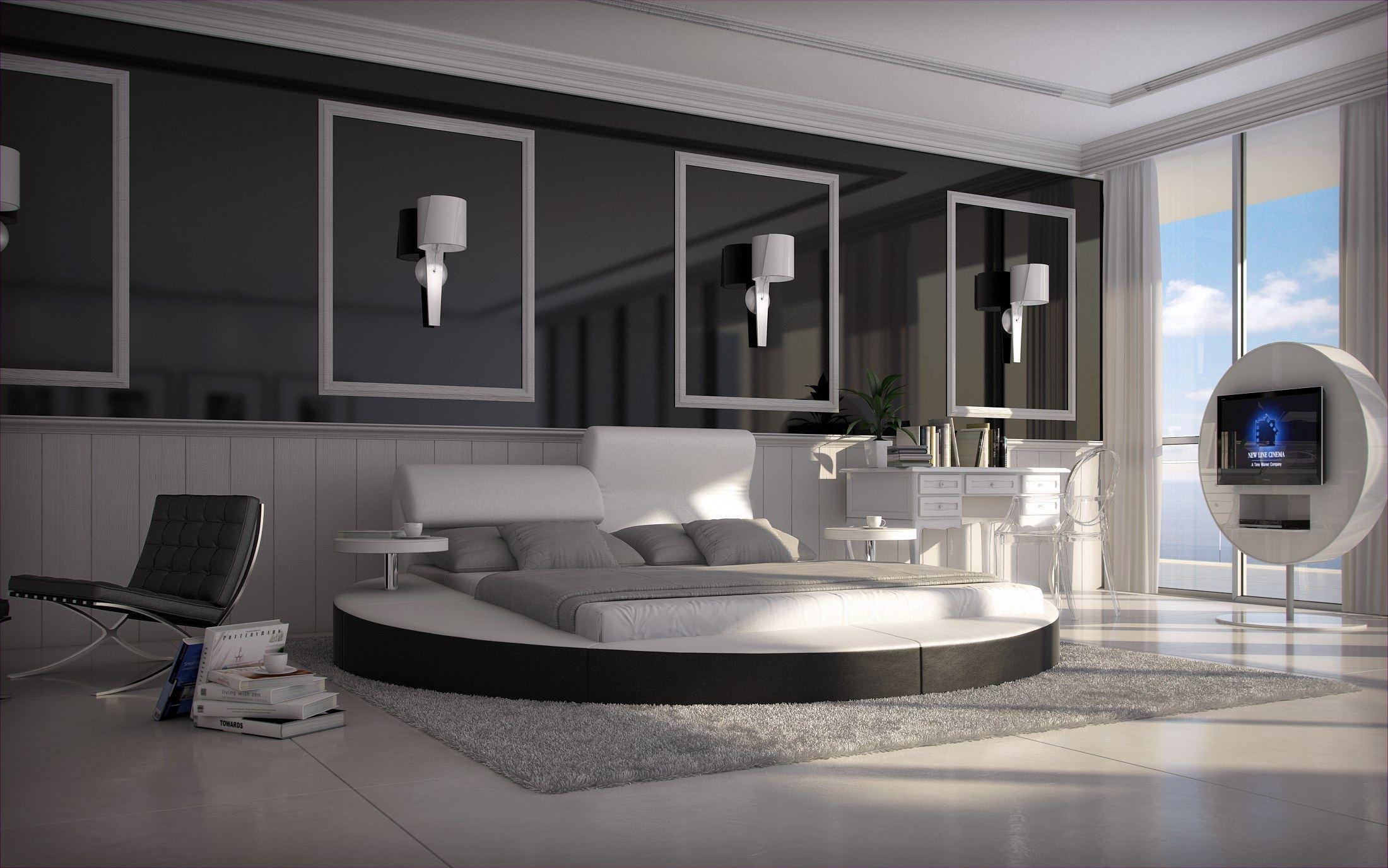 wasserbett rundbett napoli komplett set dualsystem design. Black Bedroom Furniture Sets. Home Design Ideas
