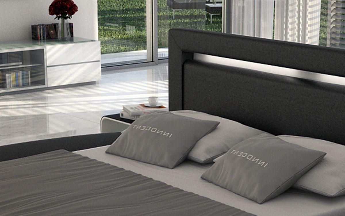 rundbett design riva designerbett mit led beleuchtung ebay. Black Bedroom Furniture Sets. Home Design Ideas