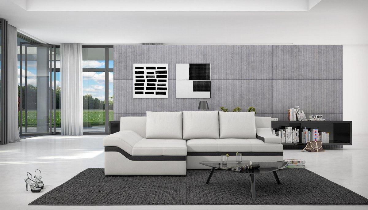 schlafcouch ecksofa schwarz o weiss bodani schlafsofa. Black Bedroom Furniture Sets. Home Design Ideas