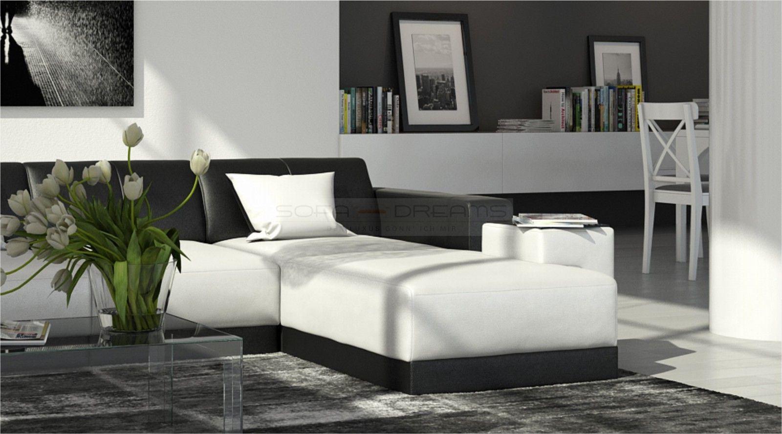 Modernes Ledersofa Ecksofa Couch Garnitur FERRAGAMO L Form