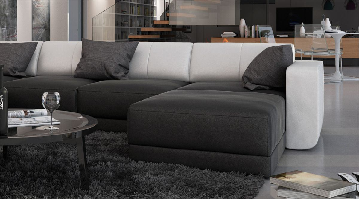 moderne wohnlandschaft ferragamo u form designersofa luxussofa sofa ebay. Black Bedroom Furniture Sets. Home Design Ideas