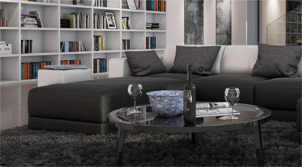 modern interior design leather sofa ferragamo u shaped. Black Bedroom Furniture Sets. Home Design Ideas