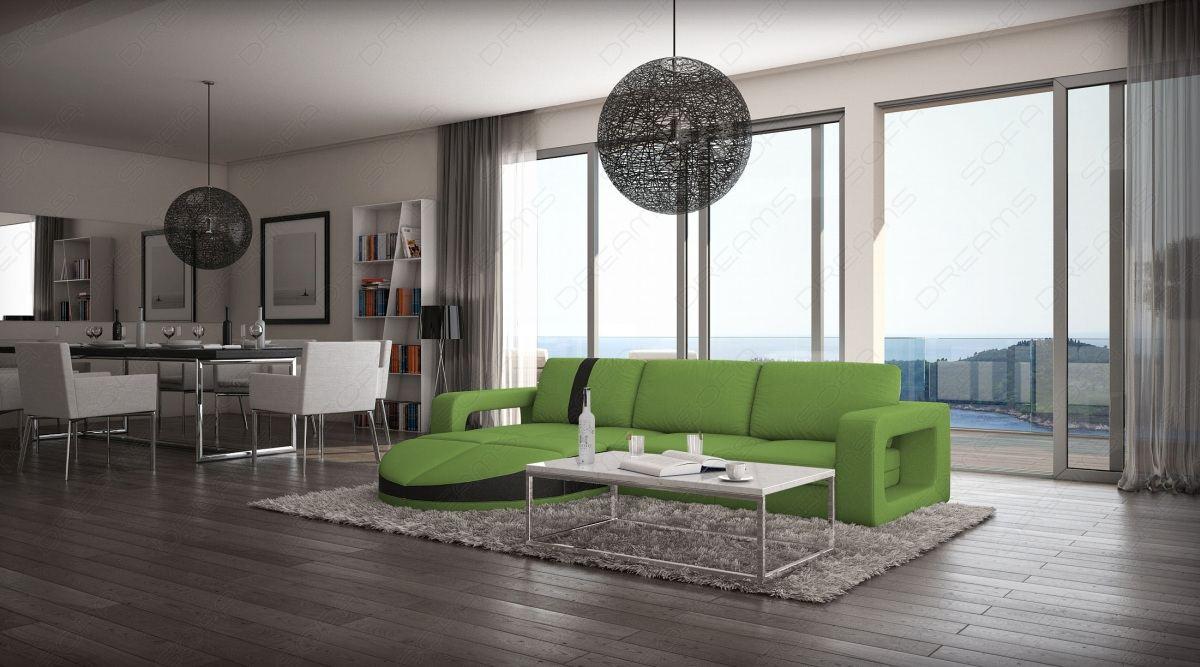 ledersofa mit ottomane florenz l form design couch luxus. Black Bedroom Furniture Sets. Home Design Ideas