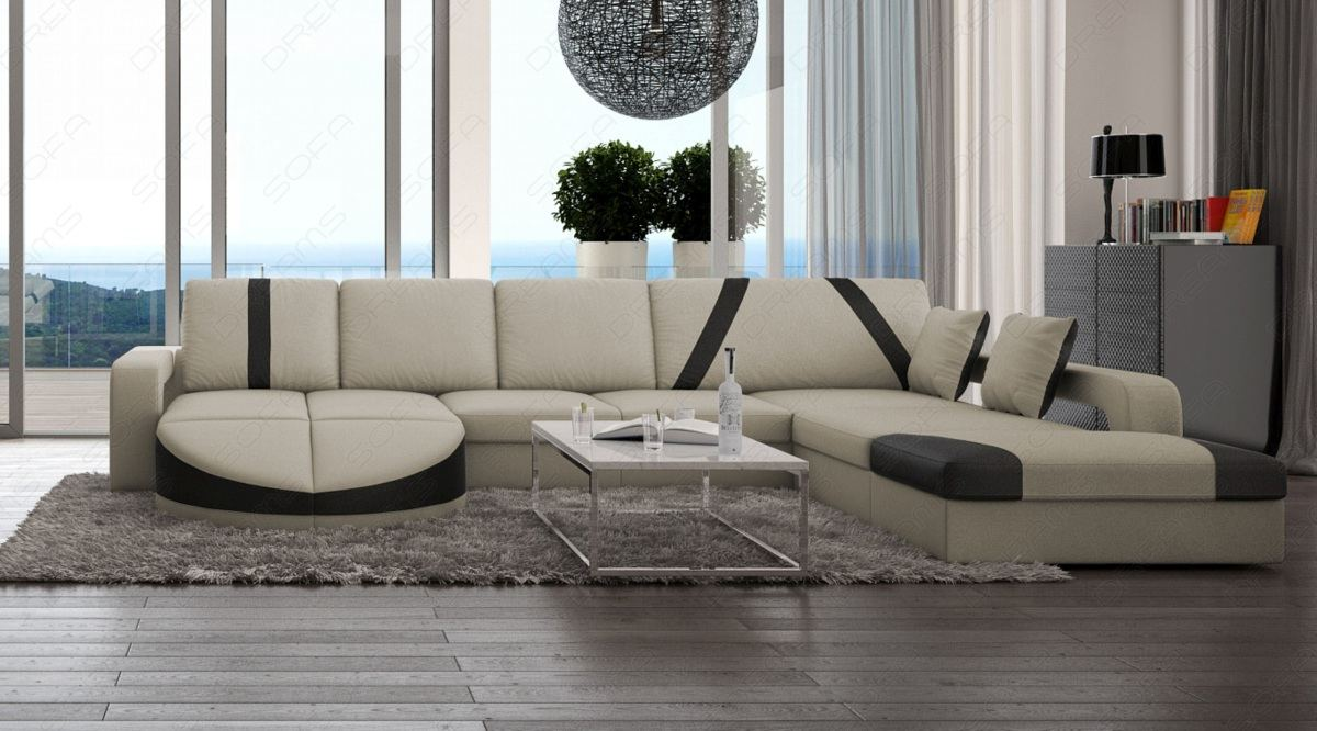 luxus designer couch ledersofa wohnlandschaft florenz u form eckcouch sofa ebay