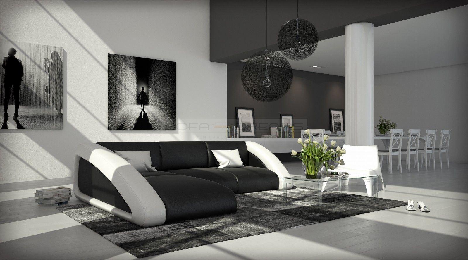 ledersofa nassau l form ecksofa design sofa eckcouch. Black Bedroom Furniture Sets. Home Design Ideas