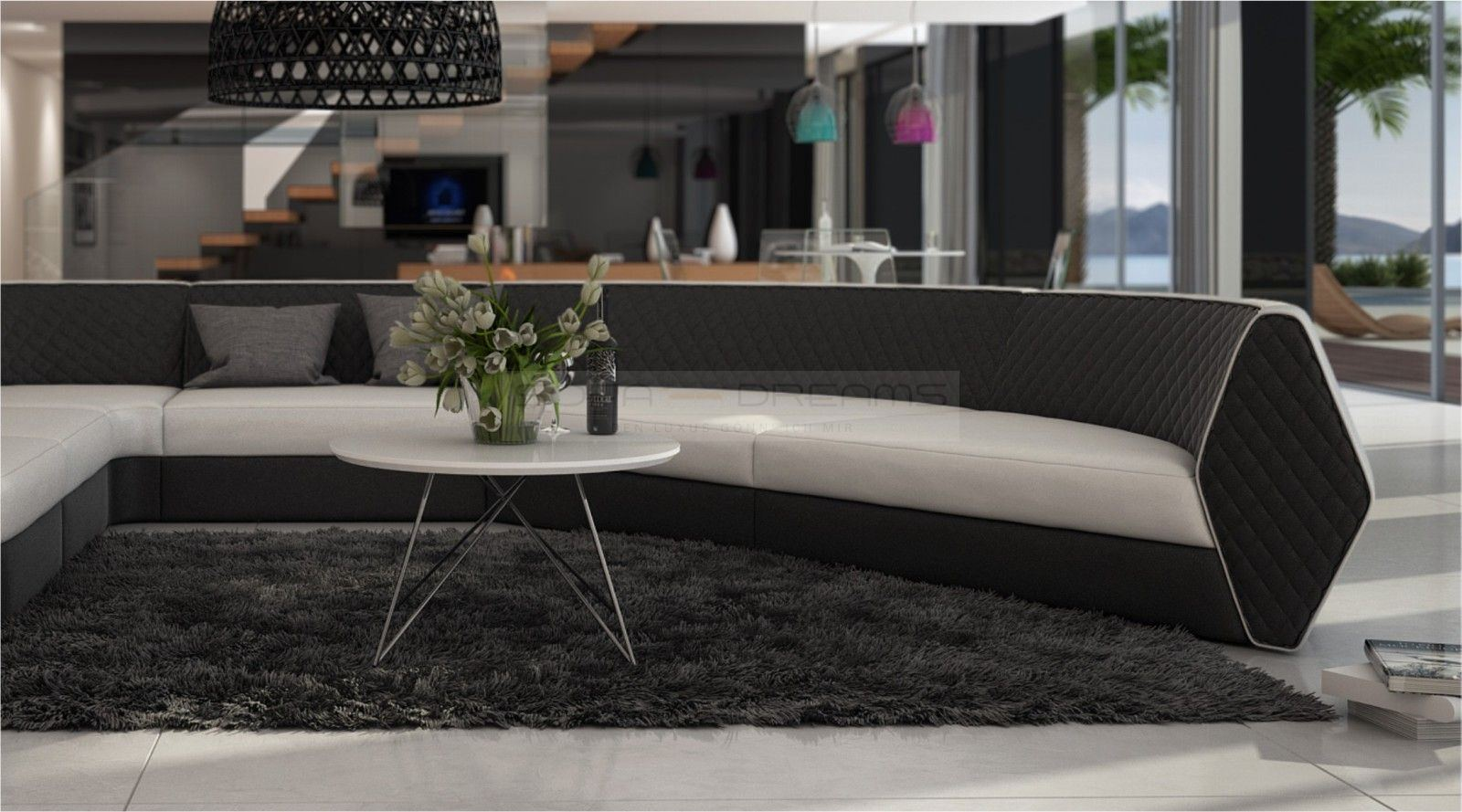 ledersofa nestare loungesofa designer couch luxussofa relaxsofa ebay. Black Bedroom Furniture Sets. Home Design Ideas