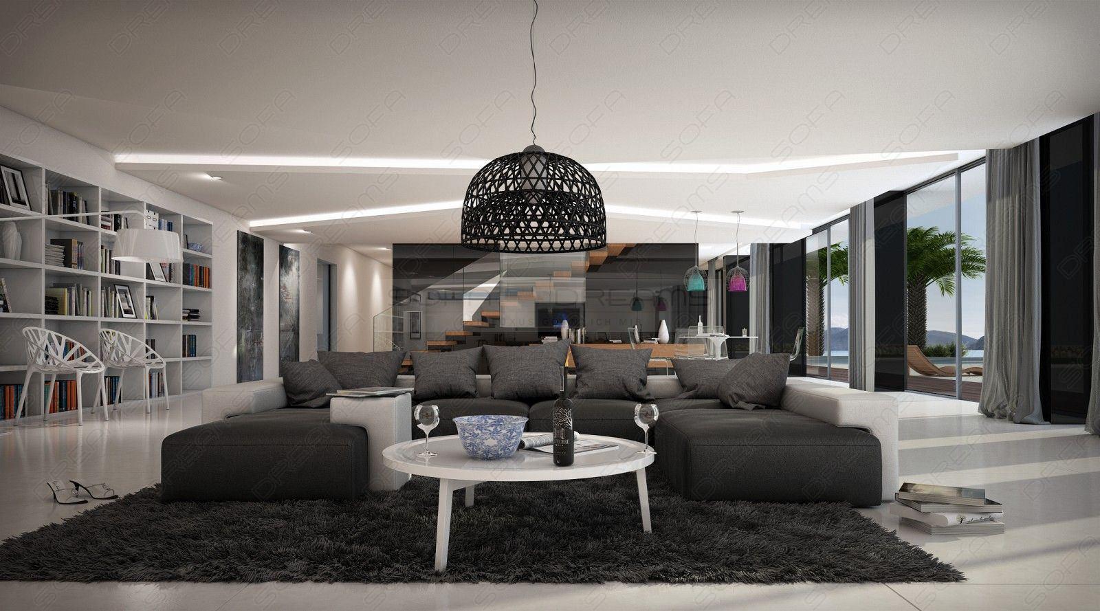 Wohnlandschaft saheel u form sofa design couch ecksofa for Grande marque de canape