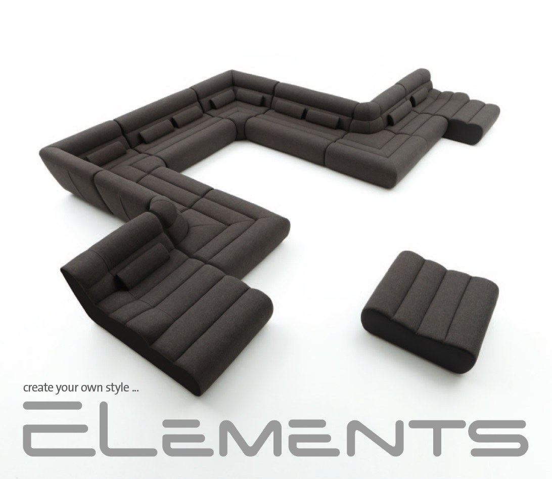 modulsofa wohnlandschaft elements 2 create your own style ebay. Black Bedroom Furniture Sets. Home Design Ideas