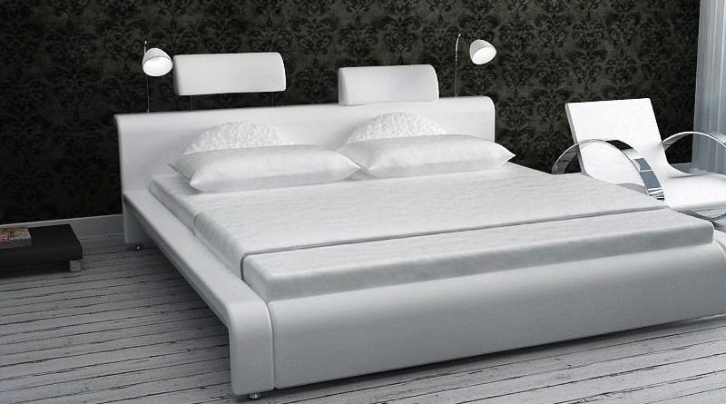 lederbett calabria designerbett polsterbett bett mit beleuchtung ebay. Black Bedroom Furniture Sets. Home Design Ideas