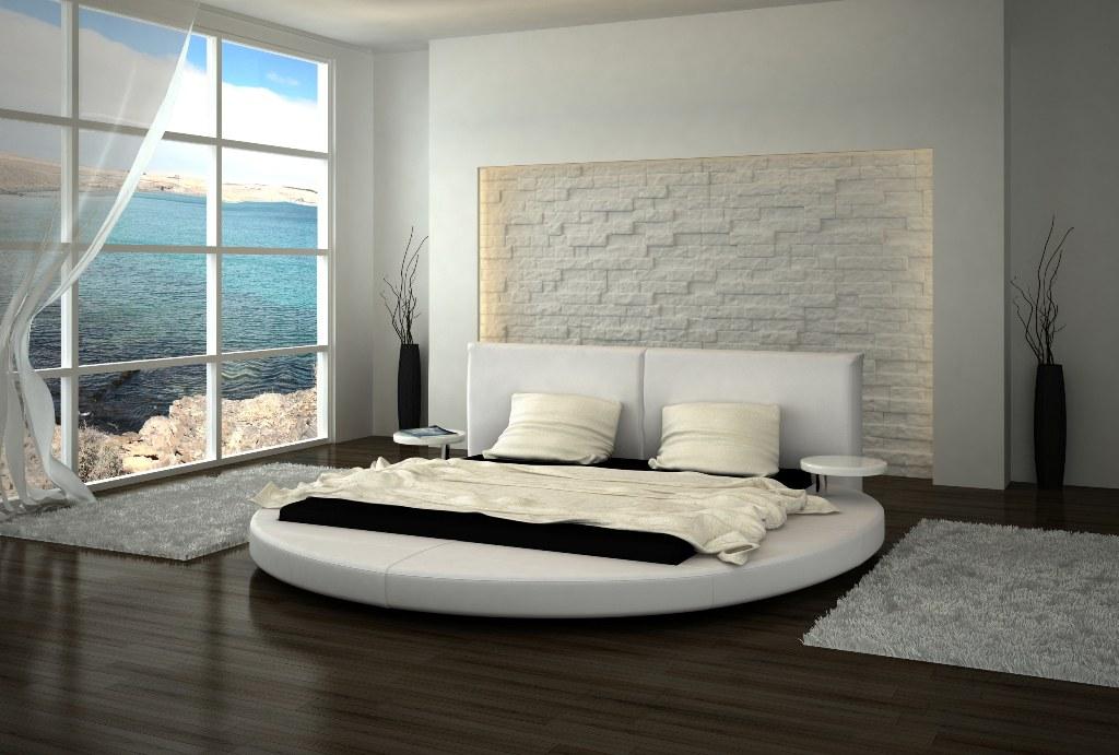 rundbett design bett rund roma polsterbett ehebett doppelbett mit nachttischen ebay. Black Bedroom Furniture Sets. Home Design Ideas