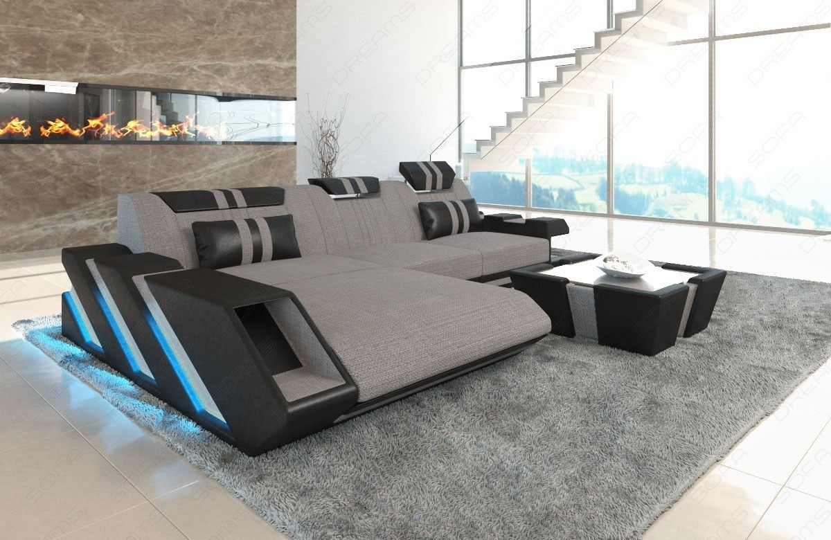 stoffsofa polstercouch materialmix apollonia l form. Black Bedroom Furniture Sets. Home Design Ideas