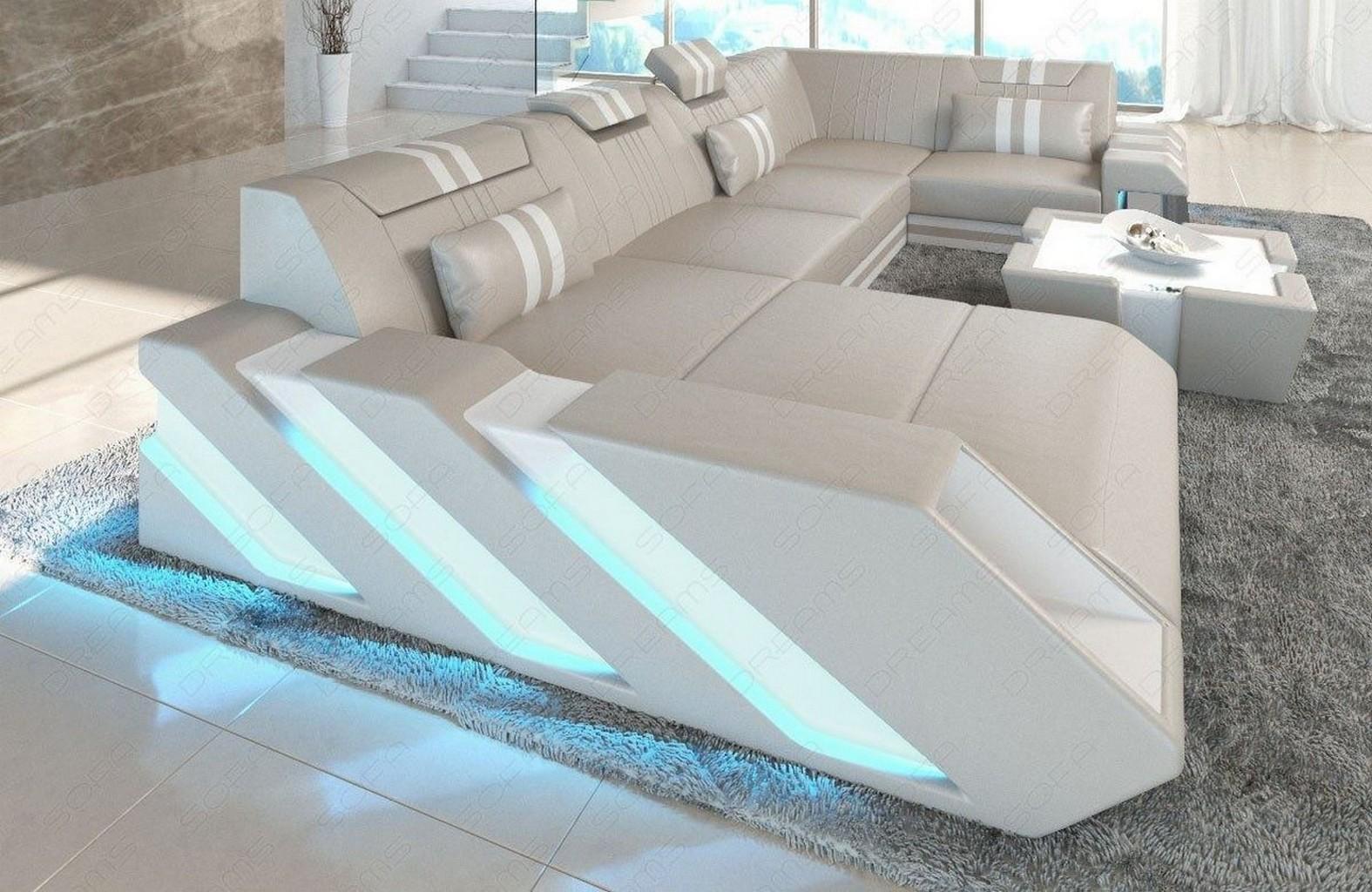sectional sofa genuine leather apollonia u shape. Black Bedroom Furniture Sets. Home Design Ideas