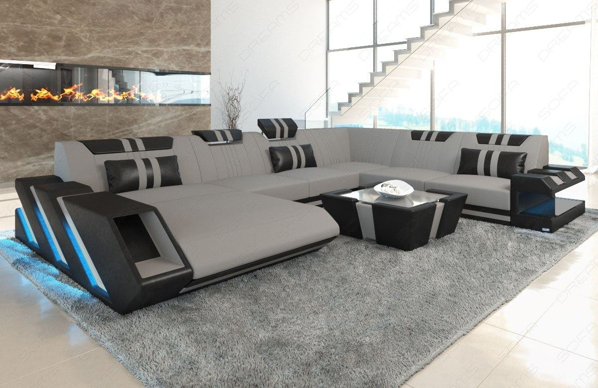 sectional sofa fabric apollonia xl designsofa colour. Black Bedroom Furniture Sets. Home Design Ideas