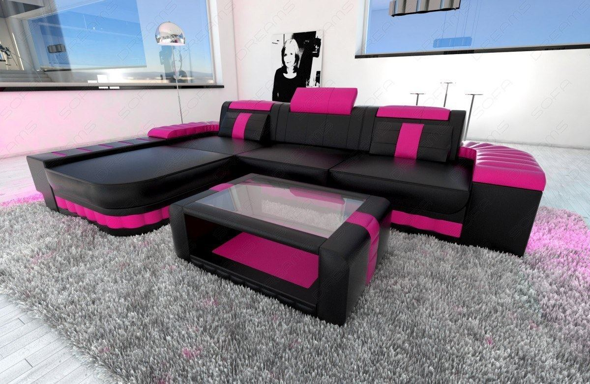 leather sofa bellagio l shape design sofa with led sofa. Black Bedroom Furniture Sets. Home Design Ideas