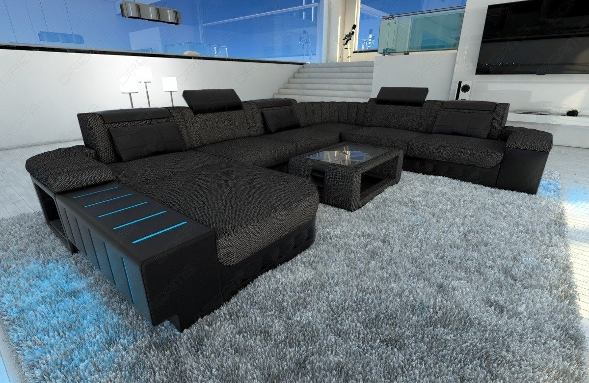fabric sectional sofa bellagio xxl design sofa with led. Black Bedroom Furniture Sets. Home Design Ideas
