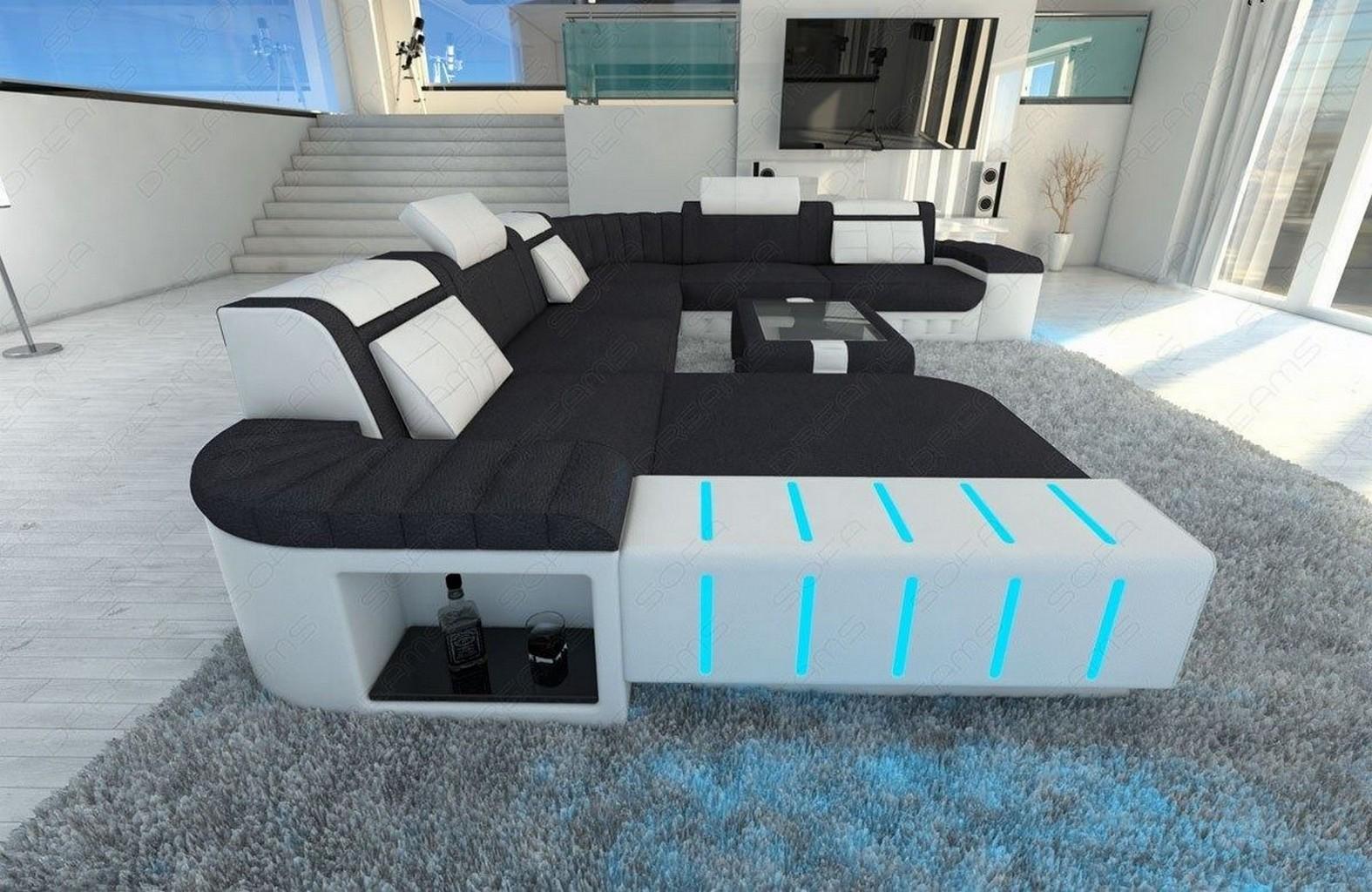 Luxus eckcouch wohnlandschaft bellagio xxl designersofa for Couch xxl ottomane