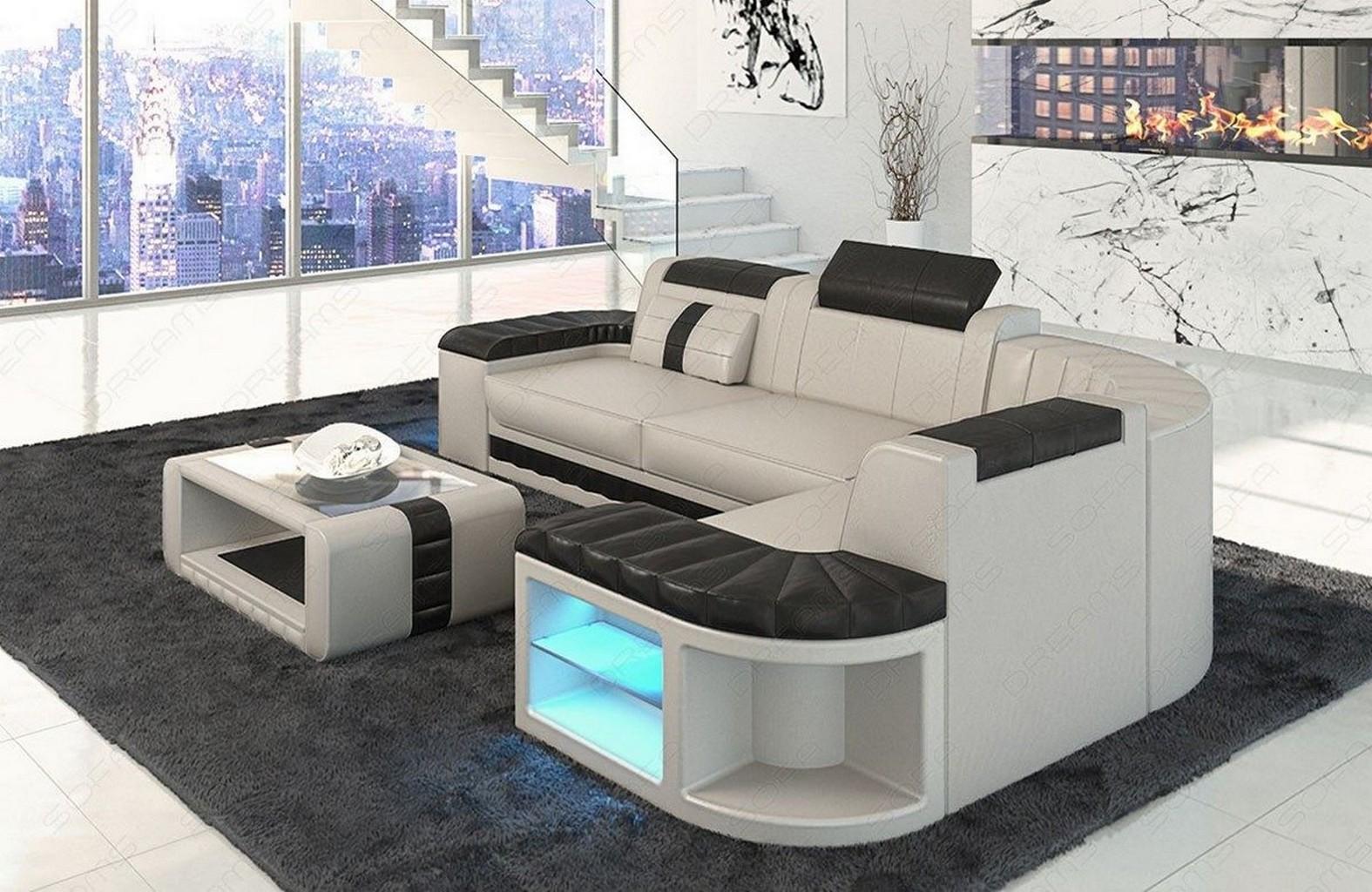 ledercouch ecksofa bergamo l form designer couch garnitur. Black Bedroom Furniture Sets. Home Design Ideas