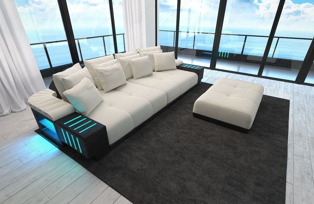 big sectional sofa bed bellagio led lights and big stool. Black Bedroom Furniture Sets. Home Design Ideas