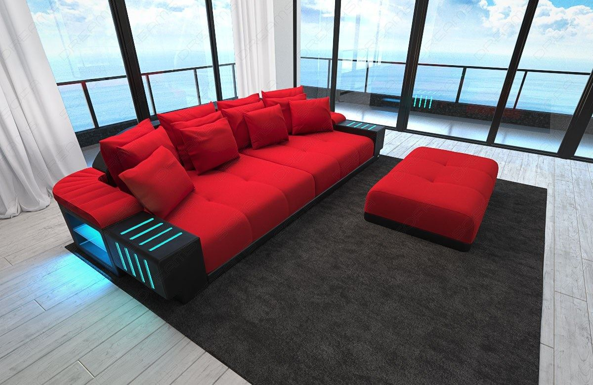 sectional sofa bellagio mega big sofa with led lights and. Black Bedroom Furniture Sets. Home Design Ideas