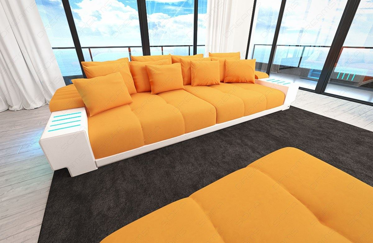 big sofa bellagio xxl sectional sofa with led lights and. Black Bedroom Furniture Sets. Home Design Ideas