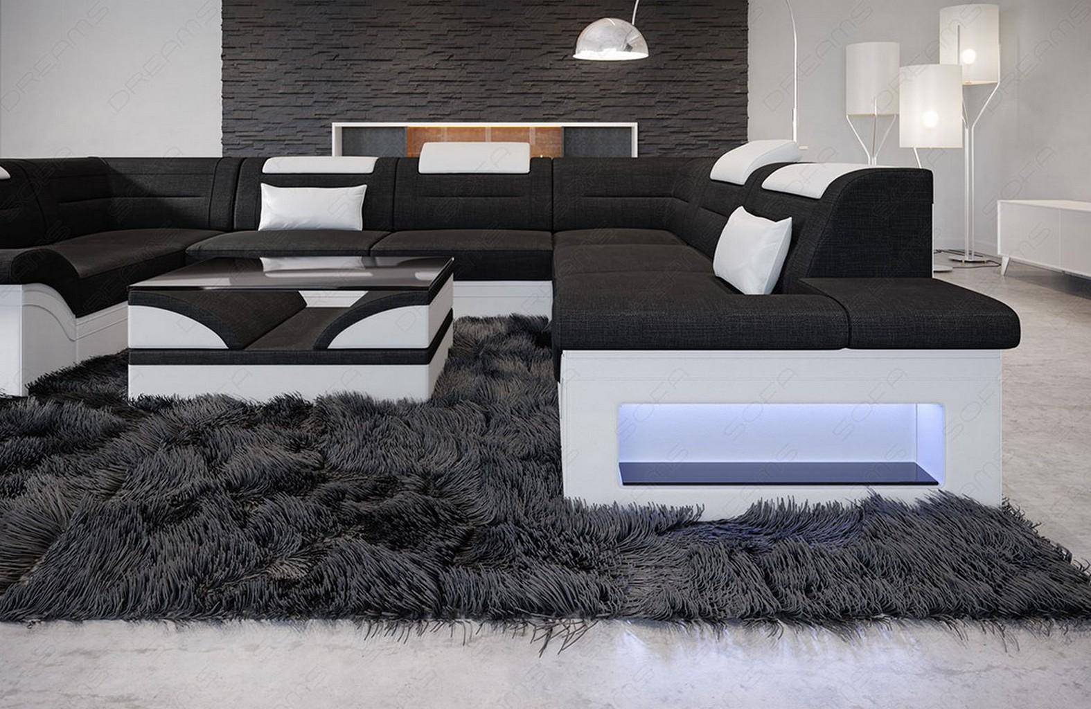 Sofa Polster Wohnlandschaft Couch BRIANZA U Form ...