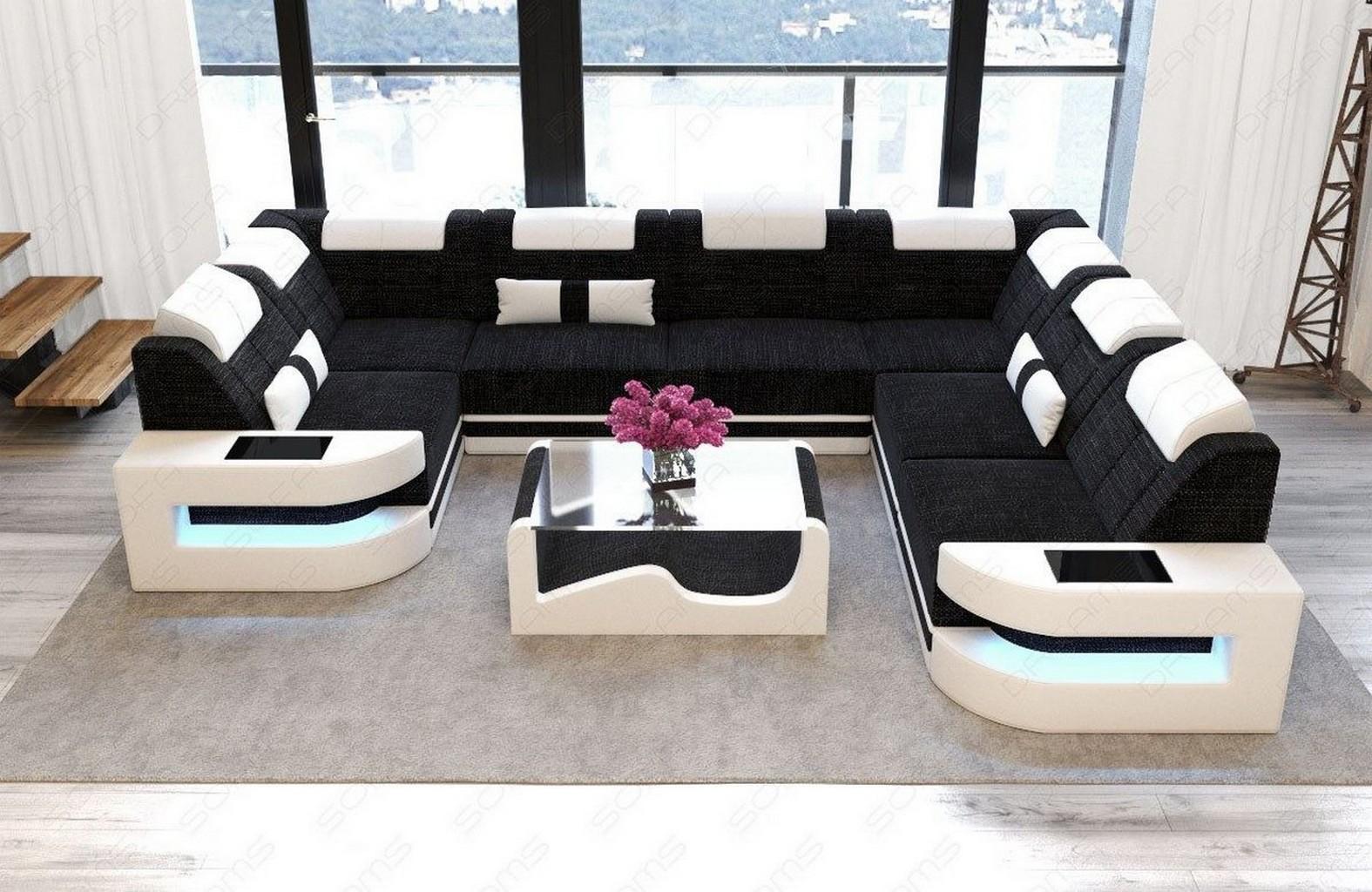 Designer luxus couch sofa wohnlandschaft como u for Wohnlandschaft 7686 exklusiv