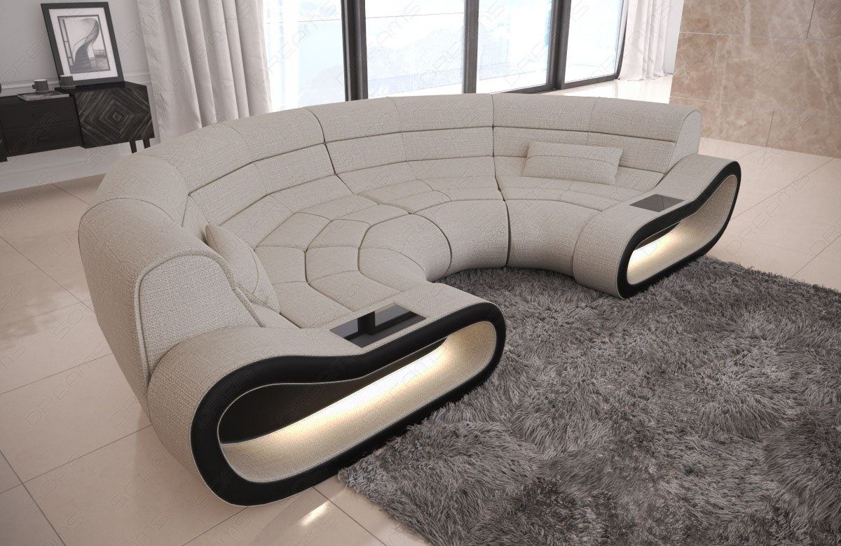 Brilliant Details About Fabric Big Couch Concept C Shape Design Sofa Modern Luxury Couch Led Lights Machost Co Dining Chair Design Ideas Machostcouk