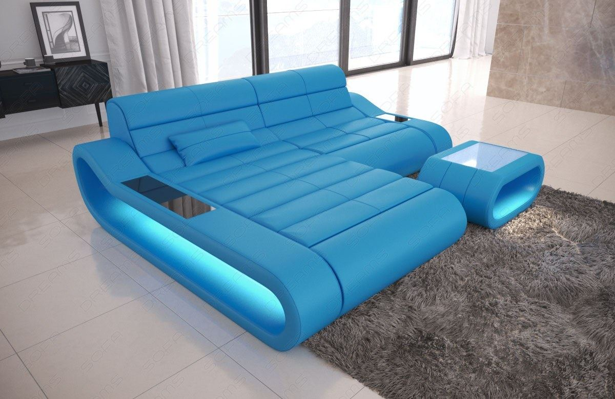 Design Leather Sofa Concept L Shape short Luxury corner Couch with ...