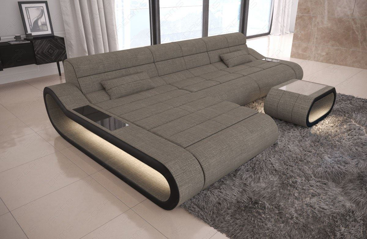 xxl couch modern design sofa luxus wohnlandschaft concept l form recamiere led ebay. Black Bedroom Furniture Sets. Home Design Ideas