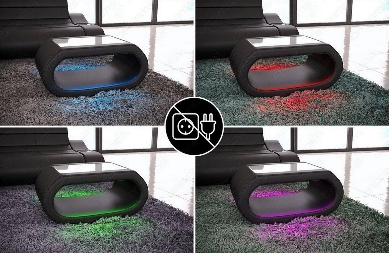 designer couchtisch sofatisch wohnzimmertisch concept beleuchtung akku ebay. Black Bedroom Furniture Sets. Home Design Ideas