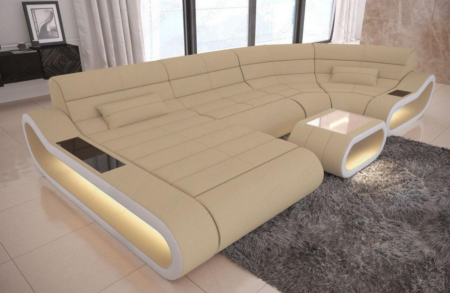 Stoff wohnlandschaft luxus sofa couch concept u form beige for Wohnlandschaft beige stoff