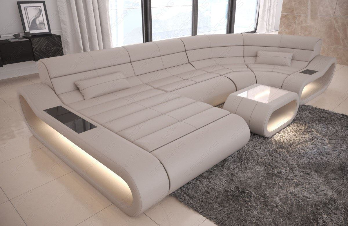 Details about Luxury Sectional Sofa Concept U Shape Design Couch Big LED  lights Ottoman